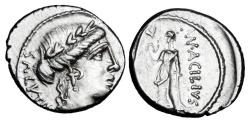 Ancient Coins - ROMAN REPUBLIC.  Man. Acilius Glabrio, 49 BC.  AR Denarius.