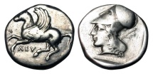Ancient Coins - AKARNANIA, Leukas.  400-330 BC.  AR Stater.