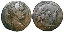 Ancient Coins - SEPTIMIUS SEVERUS. 193-211 AD.  Æ Sestertius.