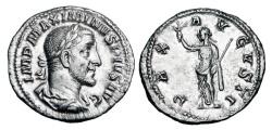 Ancient Coins - MAXIMINUS I THRAX, 235-238 AD.  AR Denarius.  ex. Forman collection.