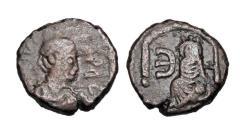 Ancient Coins - BYZANTINE EMPIRE.  Justin I, 518-527 AD.  Æ Pentanummium.