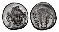 Ancient Coins - LUCANIA, Metapontion.  350-300 BC.  Æ17.