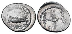 Ancient Coins - MARK ANTONY, 44-31 BC.  AR Legionary Denarius.