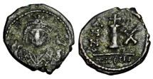 BYZANTINE EMPIRE.  Maurice Tiberius, 582-602 AD.  AE Dekanummium.