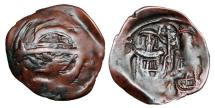 Ancient Coins - BYZANTINE EMPIRE.  Andronikos II and Michael IX, 1294-1320 AD.  Æ Stamenon.