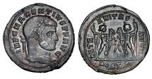 World Coins - MAXENTIUS, 306-312 AD.  Silvered ® Follis.
