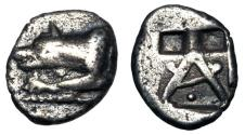 Ancient Coins - ARGOLIS, Argos.  490-470 BC.  AR Triobol.