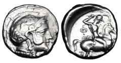 Ancient Coins - THESSALY, Pharsalos.  425-400 BC.  AR Drachm.