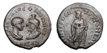 Ancient Coins - MOESIA INFERIOR, Tomis. Philip II, 244-47 AD as Caesar.  Æ26.