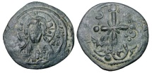 "Ancient Coins - BYZANTINE EMPIRE.  Nikephoros III 1078-1081 AD.  Æ ""Anonymous"" Follis …"