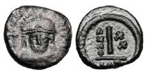 Ancient Coins - BYZANTINE EMPIRE.  Maurice Tiberius, 582-602 AD.  Æ Dekanummia.
