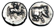 Ancient Coins - SICILY, Gela.  490-485 BC.  AR Nomos.