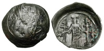 Ancient Coins - BYZANTINE EMPIRE.  Andronikos III, 1328-1341 AD.  Æ Trachy.