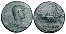 Ancient Coins - HADRIAN, 117-138 AD.  Æ As
