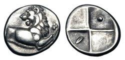 Ancient Coins - THRACE, Chersonese.   480-350 BC.  AR Hemidrachm.