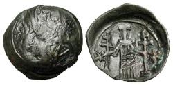 Ancient Coins - BYZANTINE EMPIRE.  Andronikos III, 1328-1341 AD.  Æ Trachy.