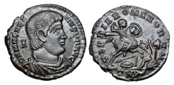 Ancient Coins - MAGNENTIUS, 350-353 AD.  Æ Centenionalis of Trier 350-351 AD.
