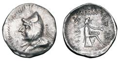 Ancient Coins - PARTHIA.  Phriapatios to Mithradates I, 185-170-132 BC.  AR Drachm.  ex PNC collection.