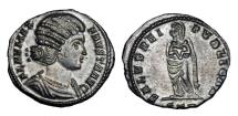 Ancient Coins - FAUSTA, wife of Constantine I, d. 326 AD.  Æ Silvered Follis.