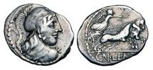 Ancient Coins - ROMAN REPUBLIC.  Cn. Cornelius Lentulus, 88 BC.  AR Denarius …