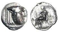 Ancient Coins - AKARNANIA, Thyrreion.  168-160 BC.  AR Stater.  Rare.  ex BCD Collection.