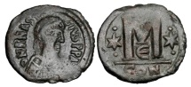 Ancient Coins - BYZANTINE EMPIRE.  Anastasios I, 491-518 AD.  AE Follis.