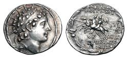 Ancient Coins - SELEUKID KINGDOM.  Antiochos VI, 143-142 BC.  AR Tetradrachm.