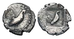 Ancient Coins - SICILY, Himera.  530-482 BC.  AR Drachm