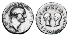 Ancient Coins - VESPASIAN, TITUS and DOMITIAN, 69-79 AD.  AR Denarius.