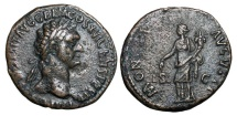 Ancient Coins - DOMITIAN, 81-96 AD.  Æ As