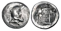 Ancient Coins - PERSIS.  Autophradates I.  III Century BC.  AR Tetradrachm.  Very Rare.
