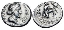 Ancient Coins - AUGUSTUS,  27 BC - 14 AD.  AR Denarius