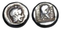 Ancient Coins - LYCIAN DYNASTS. Kherei,  Dynast of Xanthus, 425-410 BC.  AR Tetrobol.  Rare.  ex. Neubecker collection.