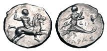 Ancient Coins - CALABRIA, Taras.  275-235 BC.  AR Nomos.