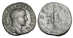 Ancient Coins - SEVERUS ALEXANDER, 222-235 AD.  Æ Sestertius.