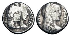 Ancient Coins - NABATAEA Kingdom.  Obedas III, 30-9 BC. AR Drachm.