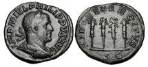 Ancient Coins - PHILIP I, 244-249 AD.  Æ Sestertius.  Millennium of Rome commemorative.