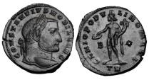 Ancient Coins - CONSTANTIUS I, 305-306 AD.  AE Follis.