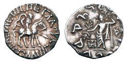 Ancient Coins - INDO-SCYTHIANS.   Spalyrises, 60-58 BC.  AR Drachm.  ex PNC collection.