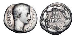 Ancient Coins - AUGUSTUS,  27 BC - 14 AD.  AR Denarius.