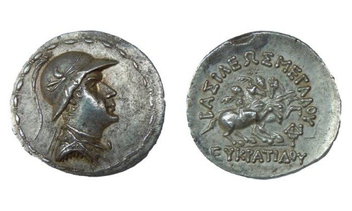 Ancient Coins - EUCRATIDES I KING OF BACTRIA