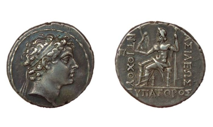 Ancient Coins - ANTIOCHOS V EUPATOR KING OF SYRIA