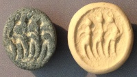 Ancient Coins - An Iron Age IIa Scaraboid Gray Stone Seal, 10th-9th century BCE