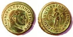 Ancient Coins - DIOCLETIAN 284-305 AD. Æ Follis. Carthage Mint