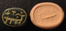 Ancient Coins - An Iron Age Scaraboid Bronze Seal Depicting a Capride, 9th-8th century BCE