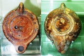Ancient Coins - A Roman Period Erotic Terracotta Oil Lamp, 1st-2nd century AD