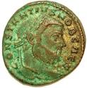 Ancient Coins - CONSTANTIUS I Chlorus as Caesar. 301-303 AD. Æ Follis. Moneta. EIS Mint.