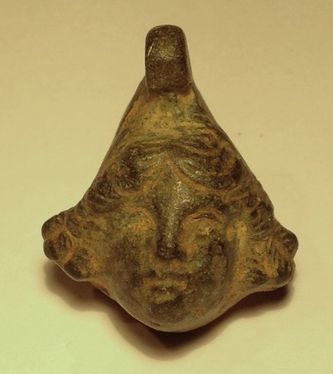 Ancient Coins - A Small Roman  Bronze Head of a Youth