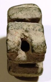 Ancient Coins - A Crusader Bronze Dagger Pommel, Cruciform of Four Fleur-de-Lis, 12th–13th century