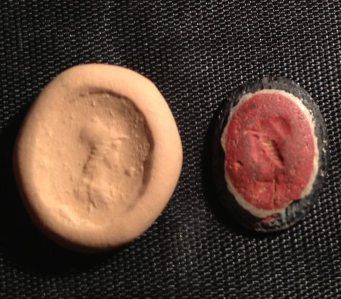 Ancient Coins - A Roman Glass Gem, 1st-2nd century CE